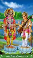 Brahma Saraswathi Mobile Wallpaper_459