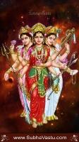Lakshmi Parvathi Saraswathi Mobile Wallpaper_62